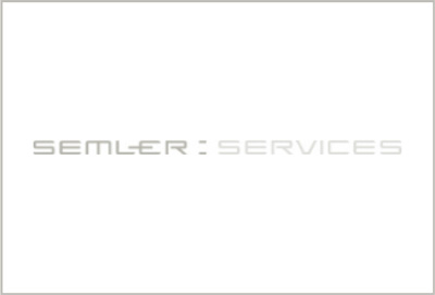 Semler services logo black and white