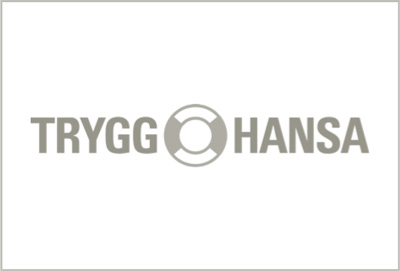 Trygg Hansa logo black and white