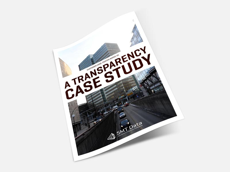 Posten Norge transparency case study brochure