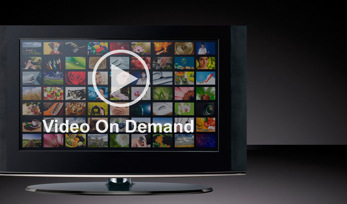 Video on demand image of television